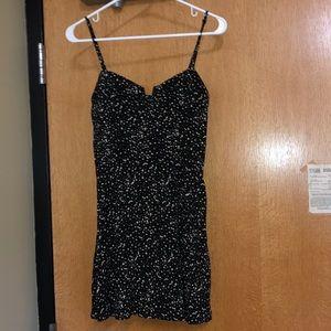 Black/Cream Dot Mini Dress